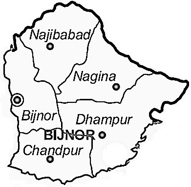 nagina city map