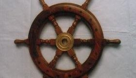 wooden ship wheel nagina