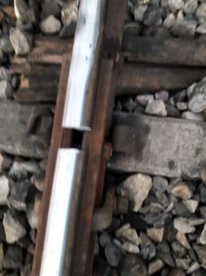 damaged rail track najibabad
