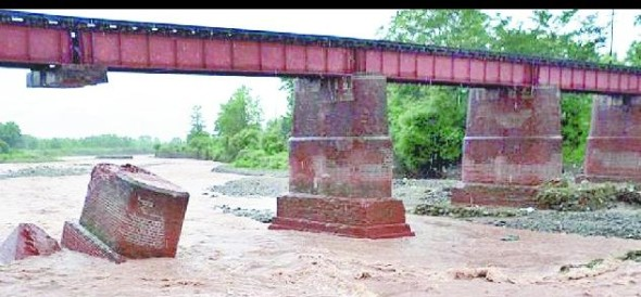 kotdwara branch line railway bridge over the river fell sukro pilar